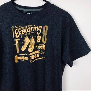 Mens North Face Never Stop Exploring Graphic Tee L